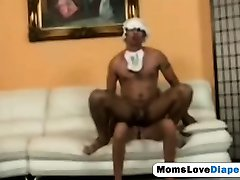 Submissive adult stepson takes some good anal pegging