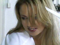 Gorgeous Blonde Nurse - Old Male Patient Treatment