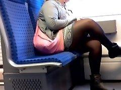 BBW Female with Nylon legs candid