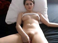 Sexy honey nipples fingering fat cameltoe cooch