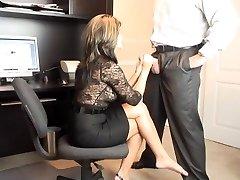 Super Hot MILF Office Oral