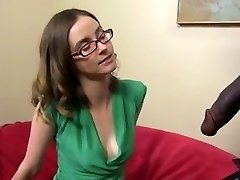 Ultra-cute and thin brunette with a BBC