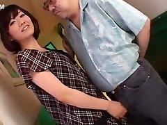 Horny Japanese chick Manami Komukai in Magnificent Hand-job, Cumshot JAV scene