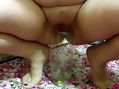 cougar, pissing in a vase