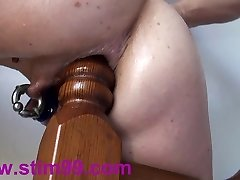 Extreme Buttfuck Plowing Insertions Fisting self Bedpost & Bat