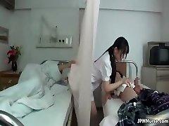 Japanese nurse enjoys sucking two part3