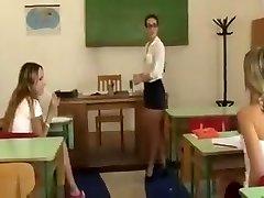 Lezzie teacher punishes schoolgirls