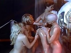 Lesbian grease and shaving orgy