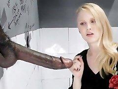 Lily Rader Sucks And Fucks Giant Ebony Dick - Gloryhole