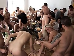 Big Baps Blonde Cum Covered at Home Party
