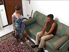 Italian buxomy HOUSEWIFE in a steaming threesome... F70