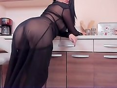 Cougar in nylon with ohmibod