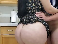 Hot Mother Fucking in kitchen