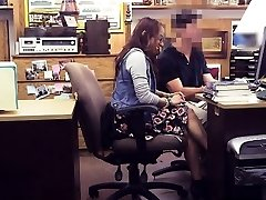 Coed in glasses pounded by perv pawn man for 450 bucks