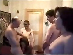 Russian first-timer sex party