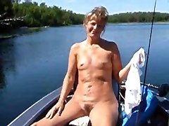 Sweet faced milf with tiny titties displays