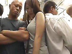 Astonishing Asian girl with hairy pussy gets fucked in the train