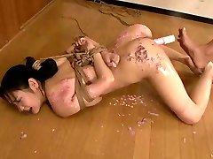 Flogging & Vibrating Orgasm for a Japanese OL