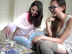 Pornstars Play Games: Jimena Lago & hot Asian