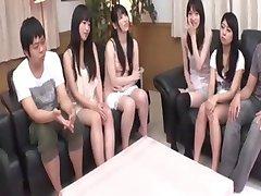 Uncensored Japanese shaving session before orgy