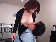 Tits, milk and an Asian