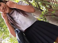 softcore asian schoolgirl upskirt panty tease