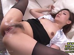 Hot Asian Secretary Takes Advantage 20