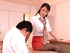 Japanese schoolteacher milf seducing student