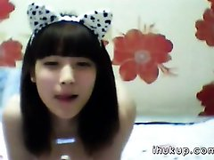 Cute korean girl stripping sexy on