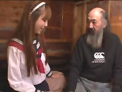 A Japanese Teen Pleasing Old Men