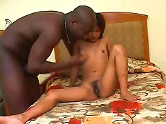 Huge Ebony Fucks Asian Teen With Small Tits