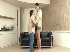 chinese tall girl fucked by short guy