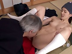 Kendo Student Lets Sensei Have Her