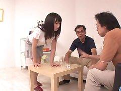 Nozomi Hazuki wants to swallow after blowjo
