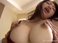 Reiko Kobayakawa big titted Asian babe gets cock ride