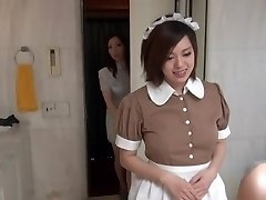 Sexy Oriental Maid in erotic hotel scene