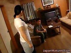 Concupiscent japanese mature chicks sucking part4