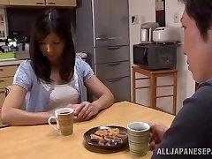 Hot mature Asian housewife Chihiro Uehara in hot 69