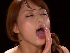 Amazing Asian model Akiho Yoshizawa in Fabulous POINT OF VIEW, Facial JAV scene