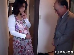 Scorching Japanese model gets poked in all her fuckholes