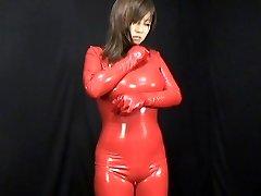 Asian Spandex Catsuit 59