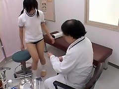 Teenie gets her pussy examined by a nasty gynecologist