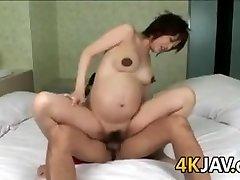 Pregnant Asian Beauty