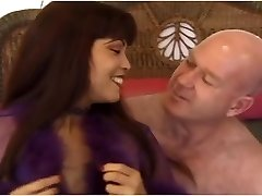 Slutty chinese MILF Mimi fucks an ugly older bald guy