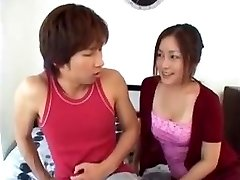 Japanese Mom Instructs Son-in-law After He Sees Her Tits