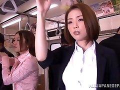 Kinky Asian model gets hard spunk-pump in public