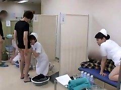 Gorgeous Chinese model Yuri Aine, Yu Kawakami, Aya Sakuraba in Nasty Nurse JAV video