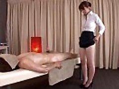 Subtitled traditional Japanese bottomless rubdown Yui Hatano