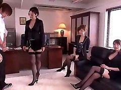 Ultra-kinky Chinese chick Leila Aisaki, Akari Hoshino, Risa Murakami in Nasty Lingerie, Fetish JAV movie