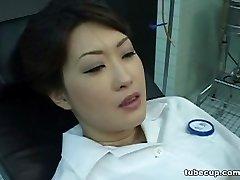 Cosplay Porn: Asians Nurses Cosplay Asian MILF Nurse Fucked Docs Office part 1